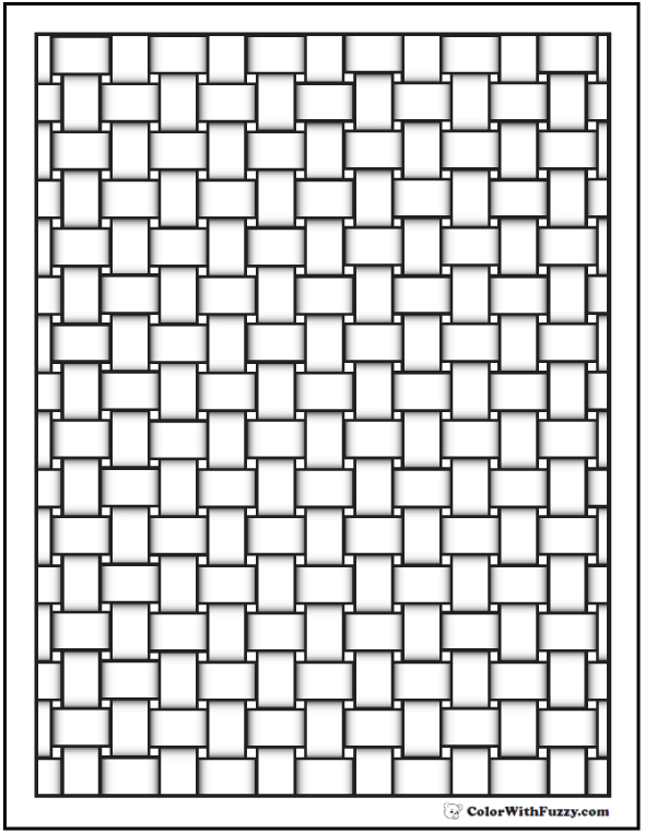 Pattern Coloring Pages Customize Pdf Printables Pattern