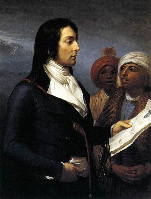 With ebony hair, a sensual gaze, angular jaw & muscular physique, General Louis Desaix was easy on the eyes! General Desaix came from an impoverished noble family, attended France's most prestigious military academy, and became a distinguished officer. General Desaix would die at the Battle of Marengo after being struck in the heart by a musket ball. Napoleon admired Desaix & mourned his passing.