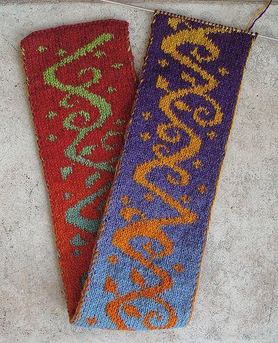 Hönkä pattern scarf by Eeva Saviranta, knit by ...