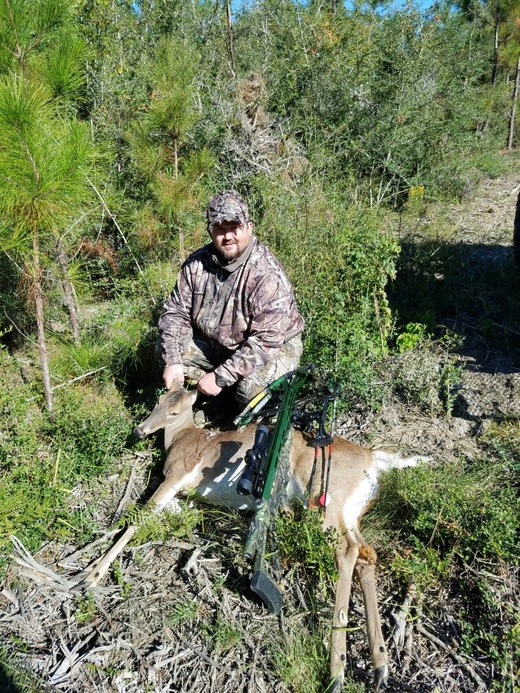 First day of hunting season in northwest fl my first deer