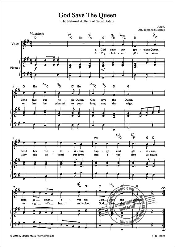 Anonymus: God Save The Queen Die britische Nationalhymne