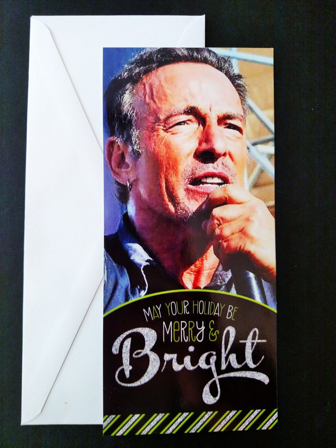 Bruce Springsteen Christmas cards holiday cards unpublished – Bruce Springsteen Birthday Card