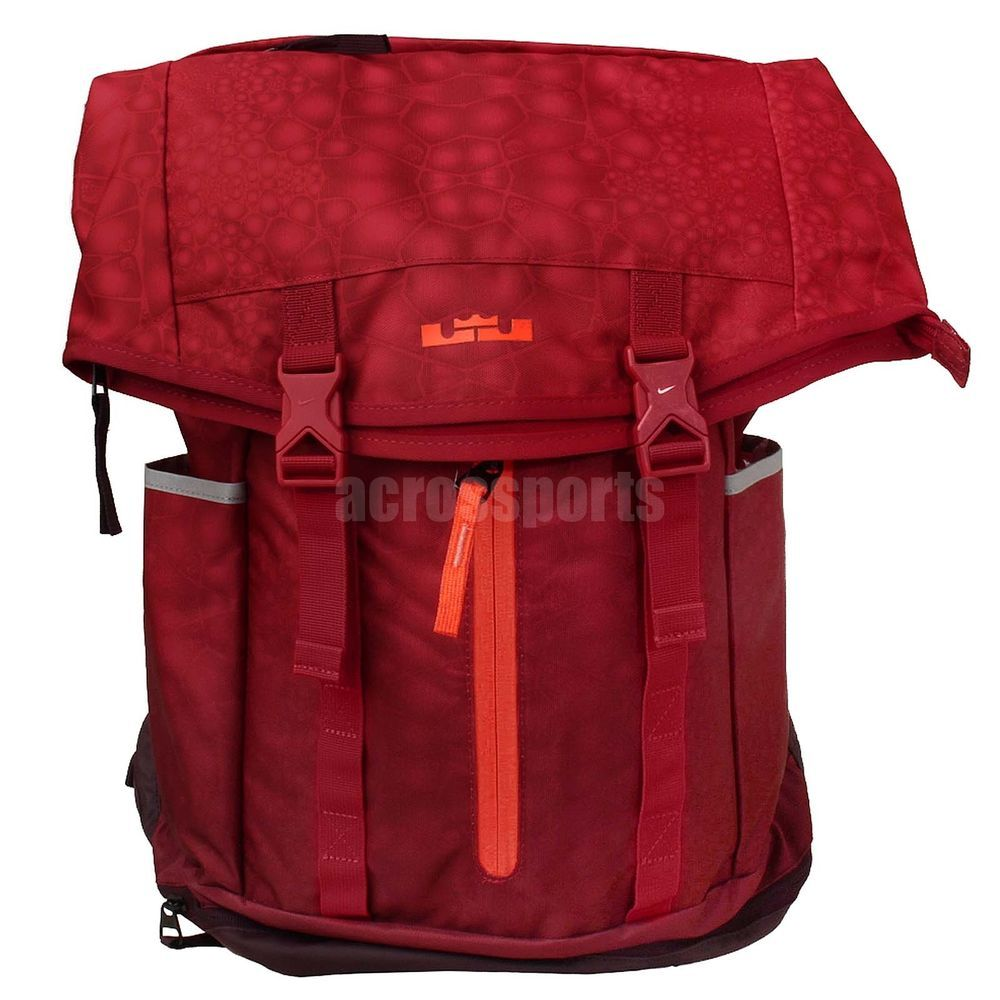 8de1bde5742c6 Nike LeBron Ambassador Lebron James Red Basketball Backpack BP Bag  BA4750-686