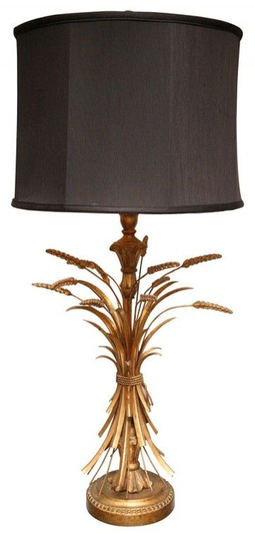 Gold Wheat Lamp Yes Please Lamp Eclectic Table Lamps Decor