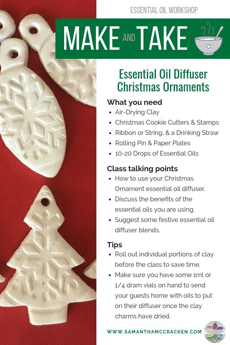 Essential Oil Diffuser Christmas Tree Ornaments