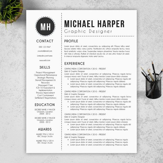Creative, Modern Resume Template Free Cover Letter + Reference - onet online resume