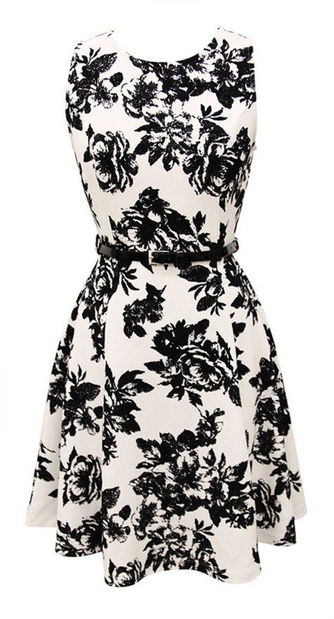 8bd530b54f 2LUV Women s Trendy Fit   Flare Printed Cocktail Dress