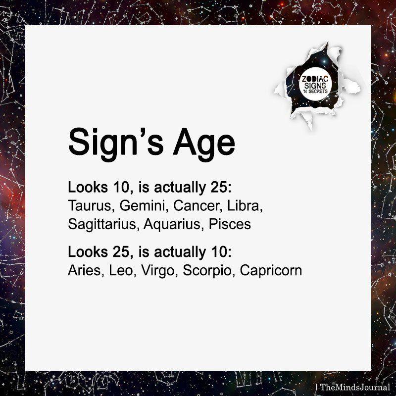 Sign's Age | Funny Stuff | Zodiac signs taurus, Zodiac signs