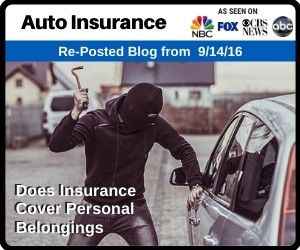Accident Vandalism Does Insurance Cover Personal Belongings Car