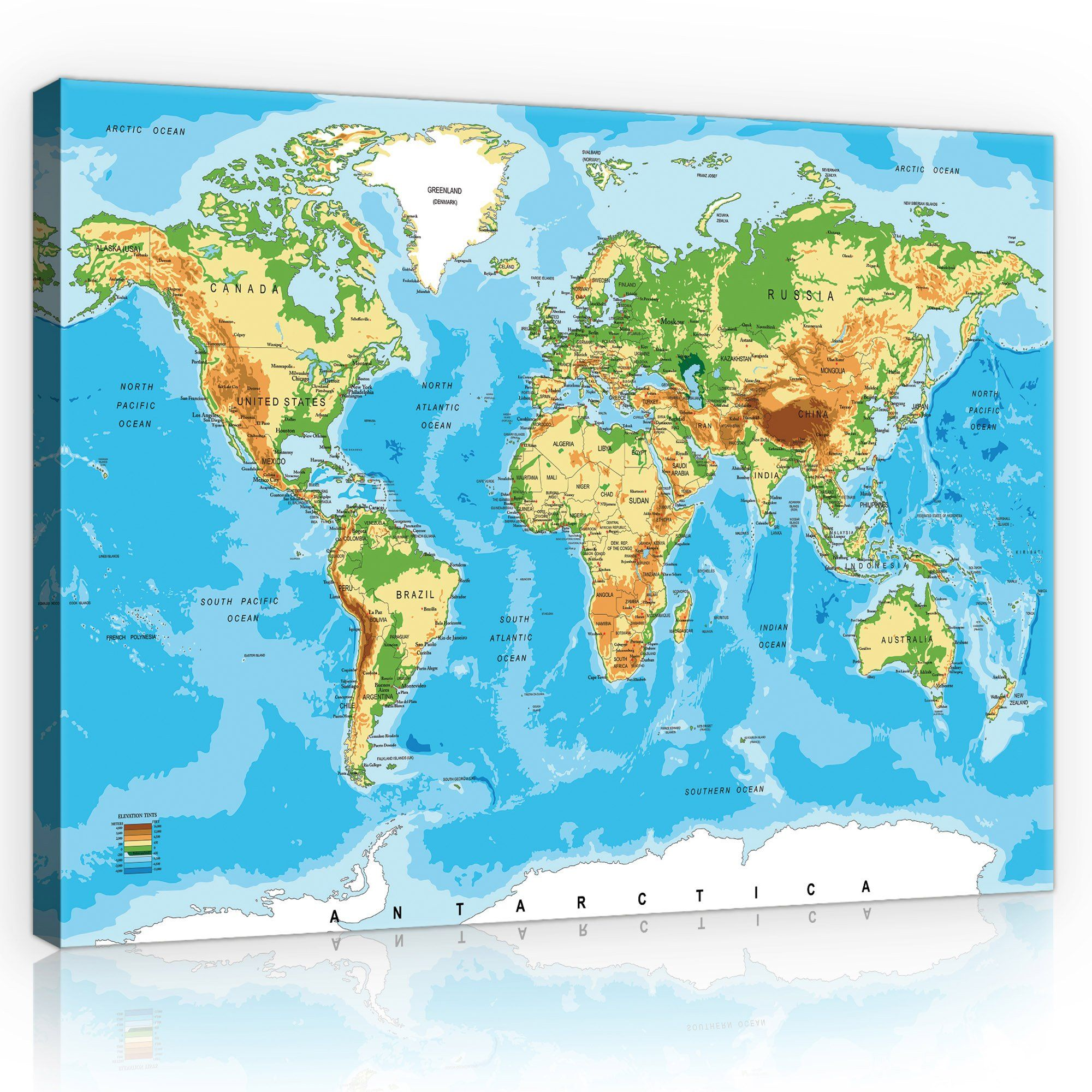 Obraz 100x75 Mapa Swiata Kontynenty Duzy Wybor In 2020 With