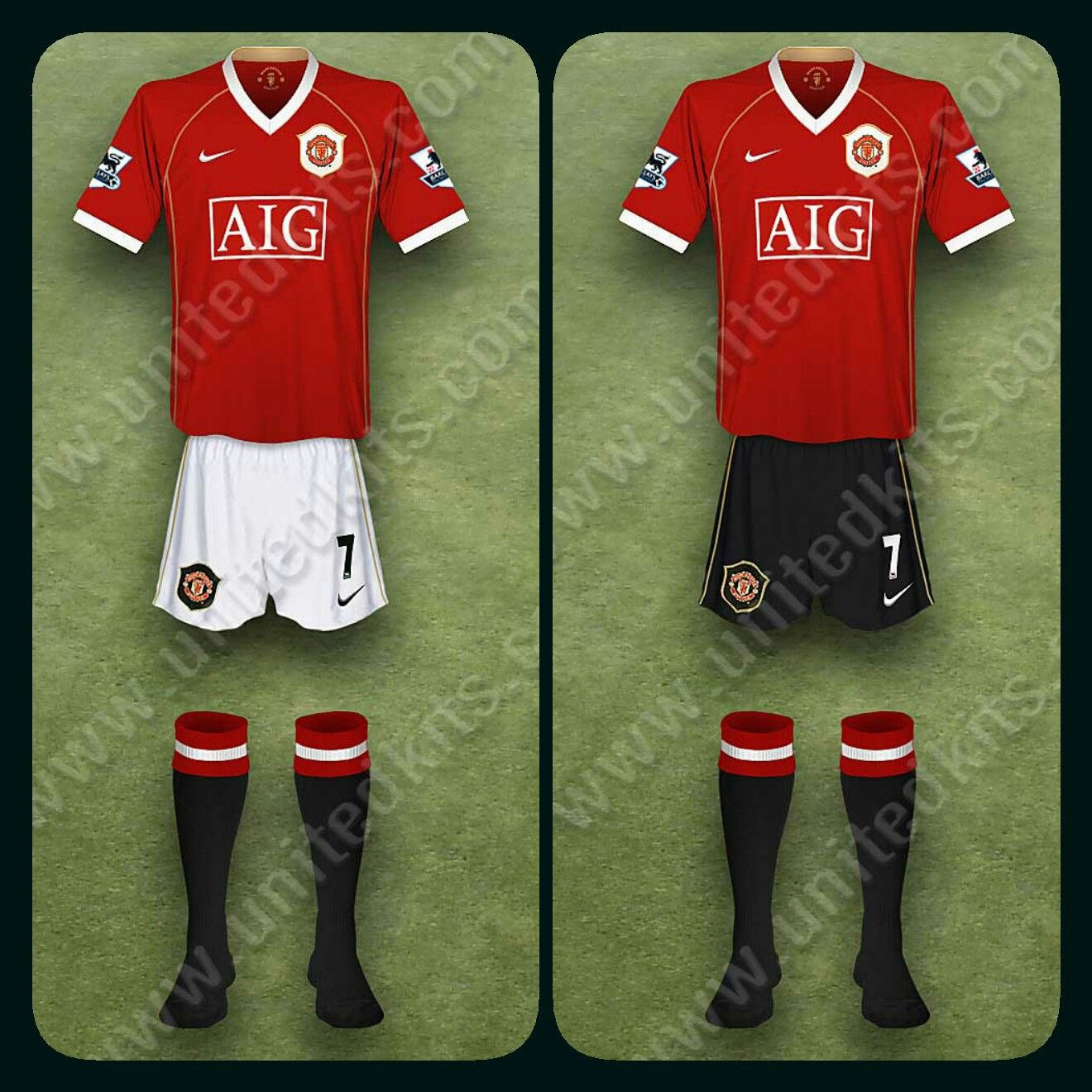 e49580c892f Man Utd home kit for 2006-07 (one with black shorts).