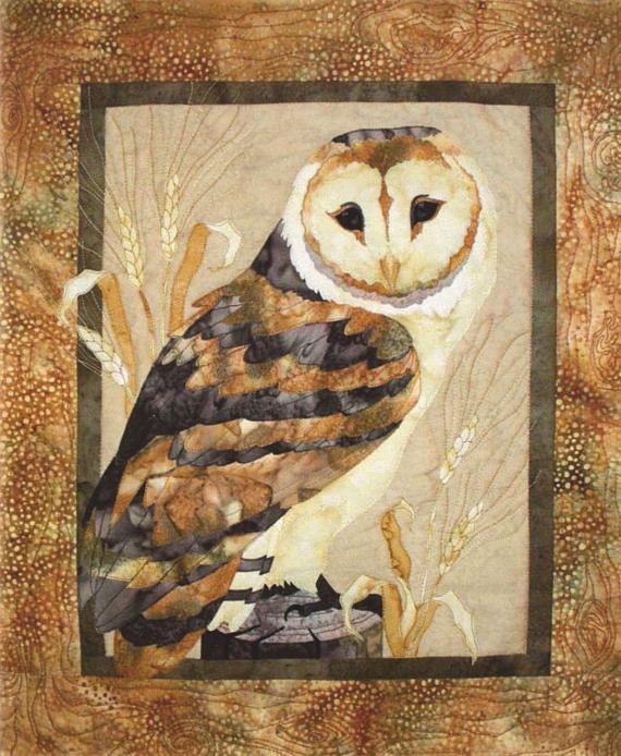 Quilt Pattern Mellow Meadow Sitting Owl Toni Whitney Design ... : owl applique quilt pattern - Adamdwight.com