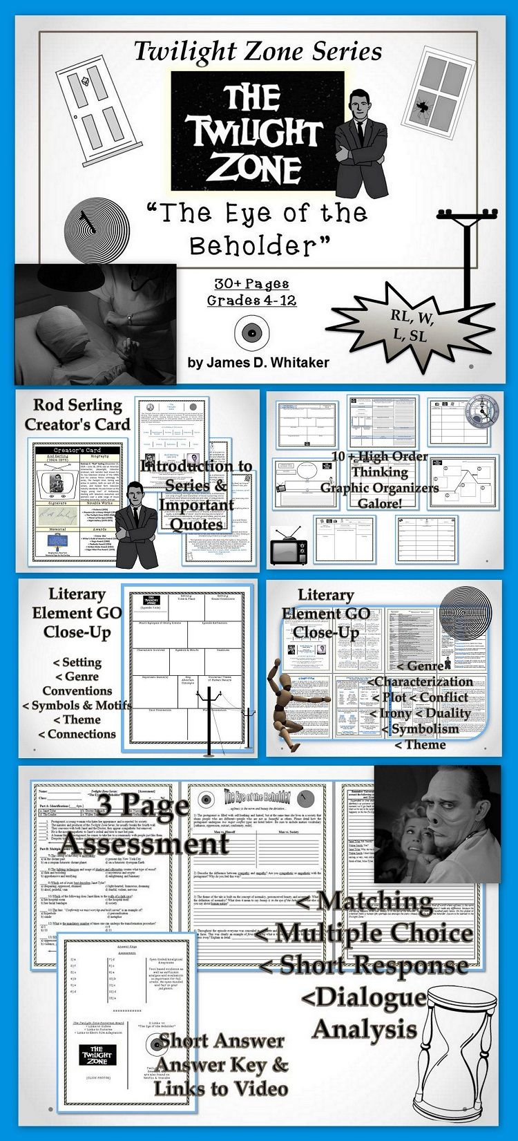 Eye of the beholder twilight zone unit resource common core teach your students the elements of literature with the classic television series the twilight zone start with the perplexingly ironic fan toneelgroepblik Image collections