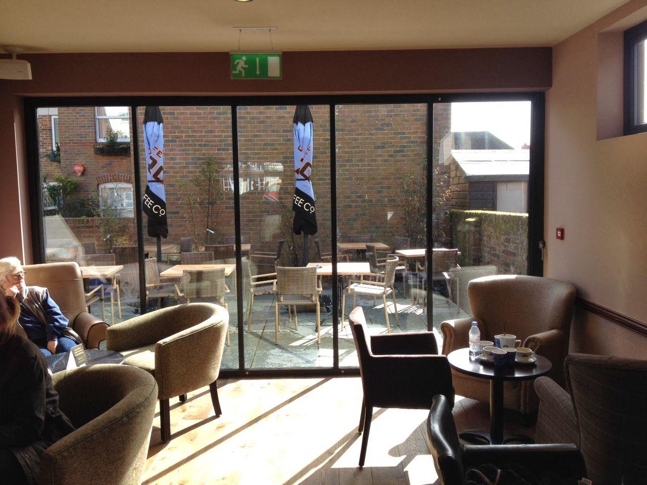 SunSeeker Doors at Caffè Nero & SunSeeker Doors at Caffè Nero | UltraSlim glass doors | Pinterest ...