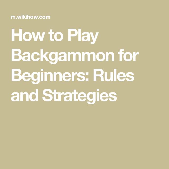 Play Backgammon Backgammon
