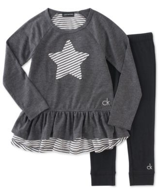 29328b333e9 Calvin Klein Baby Girls' 2-Piece Star Tunic & Leggings Set | macys.com