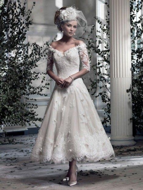Vestiti Da Sera Anni 60.Ian Stuart Tea Length Wedding Dress Wedding Tea Length Wedding