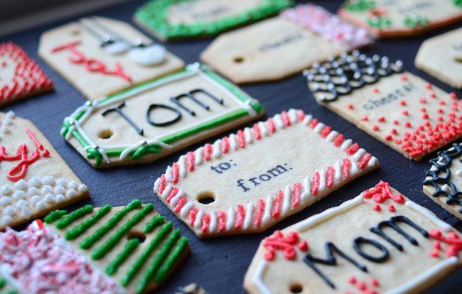 Festive and fun diy christmas gift tags christmas cookies
