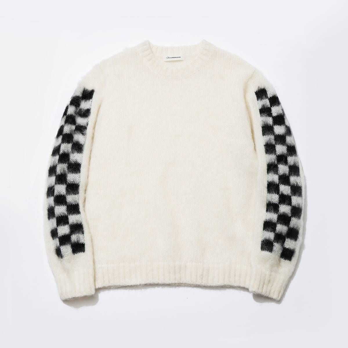 991e2ce6b3 Undercover JohnUndercover Checkered white mohair sweater Size l - Sweaters    Knitwear for Sale - Grailed