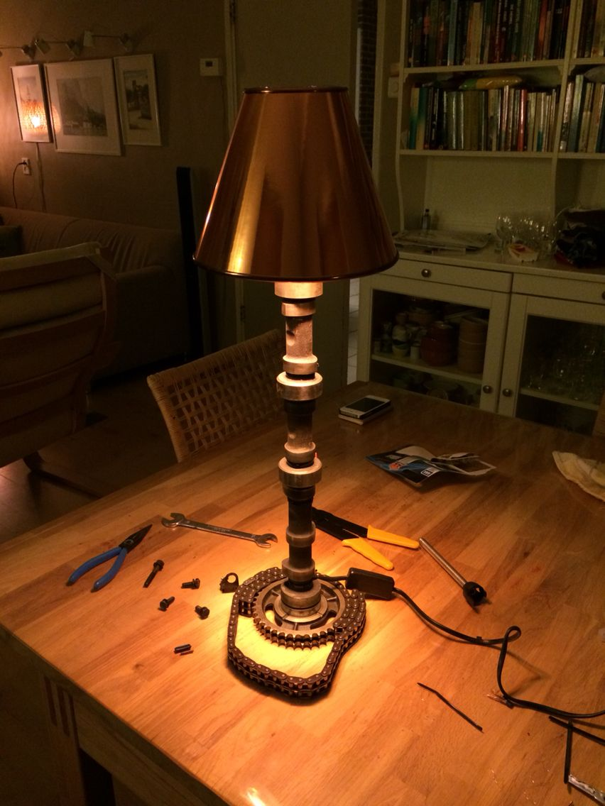 Camshaft Lamp Made By Myself