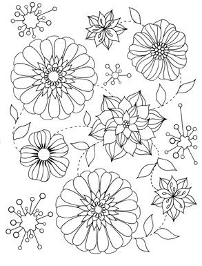Easy Flowers Flower Coloring Sheets