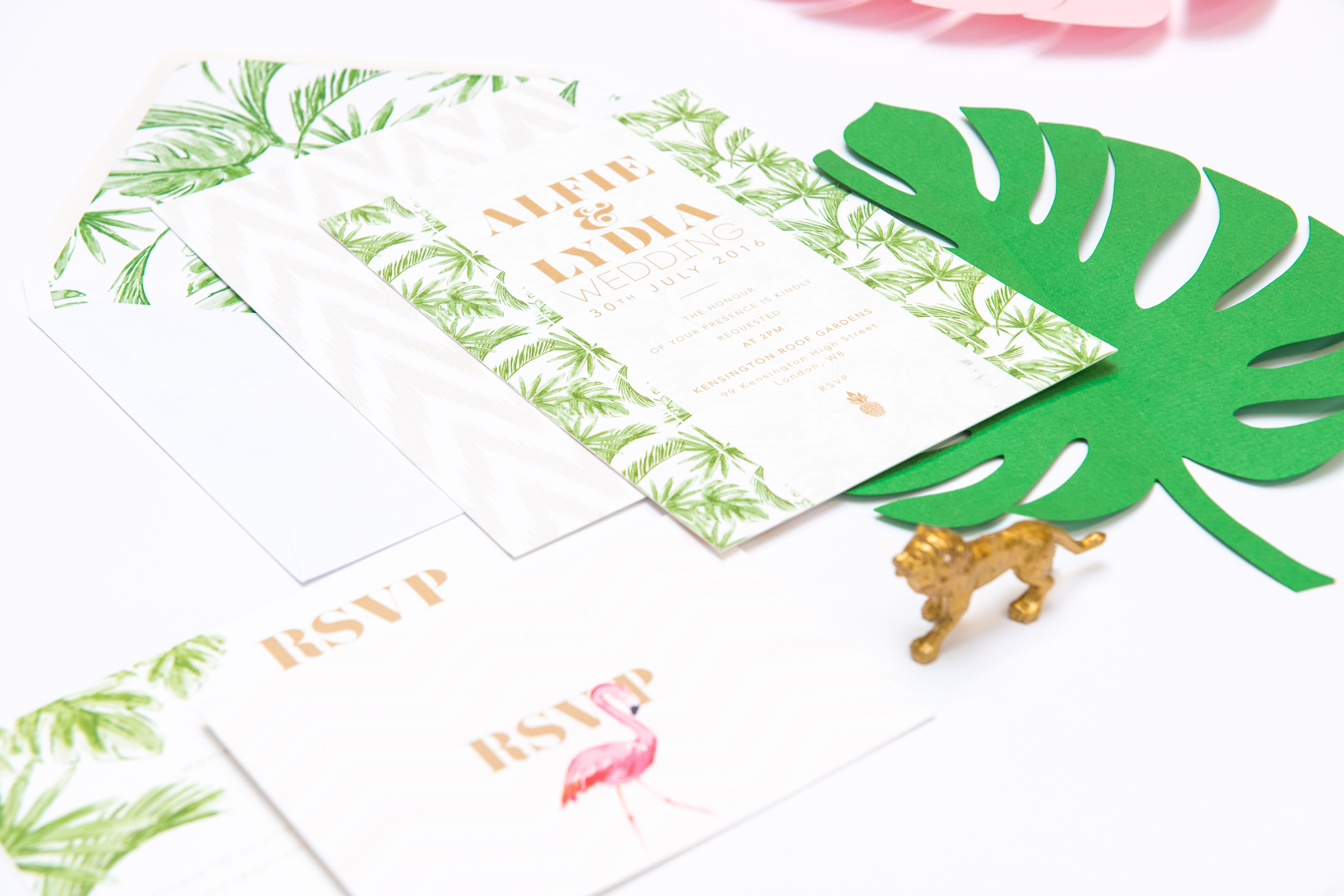 Abigail Warner Tropical Personalised Day Invitations | Wedding and ...