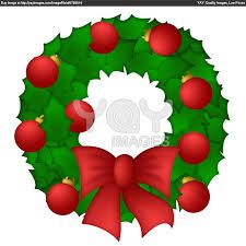 Christmas Decorations Cartoon Wreath Google Search