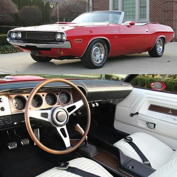 Bright Orange Red 60s Challenger Convertible White Interior Modern Muscle Cars Mopar Muscle Cars Muscle Cars For Sale