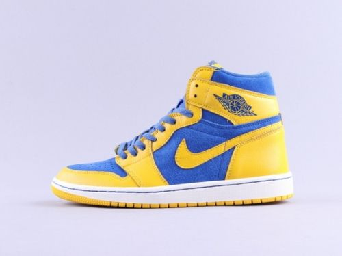 premium selection 7461a a8faf Factory Authentic Air Jordan 1 Retro High OG  Laney  Varsity Maize Game  Royal-White - Mysecretshoes