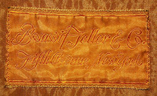 "[label] ""Bonwit Teller & Co., N.Y."", 1925-30."