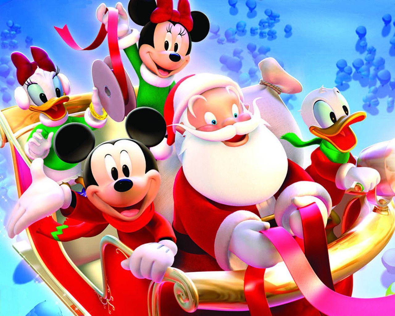 Mickey Mouse Happy Christmas Wallpaper. | Christmas Holyday ...