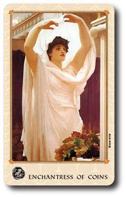 Enchantress of Coins in the Tarot of Delphi