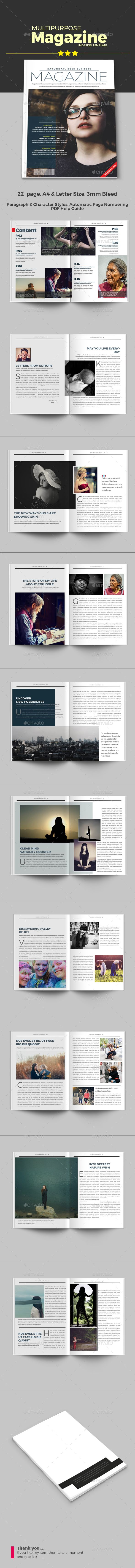 Multipurpose Magazine — InDesign Template #corporate magazine #technology #magazine design #architecture #modern • Download ➝ https://graphicriver.net/item/multipurpose-magazine-template/17838885?ref=pxcr