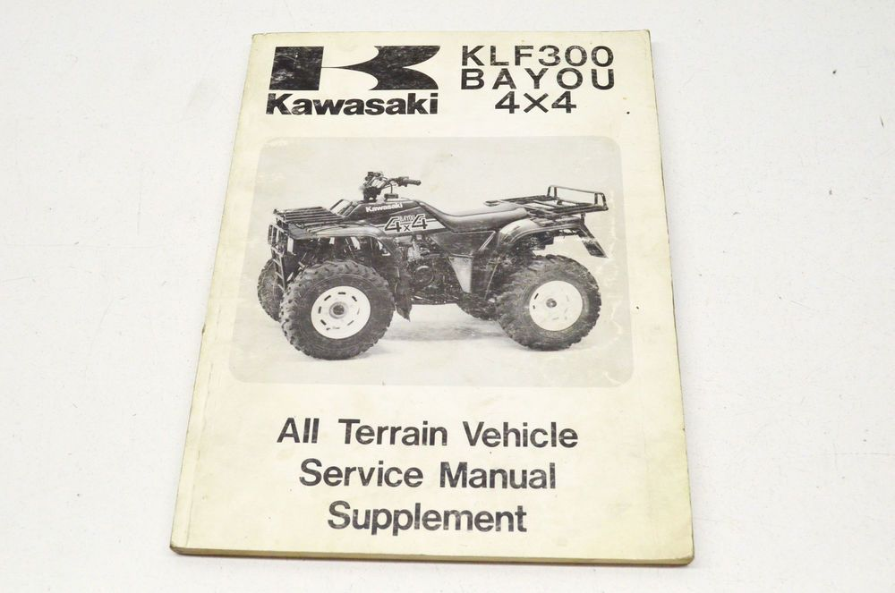 Oem Kawasaki All Terrain Vehicle Service Manual Supplement Klf 300 Bayou 4x4 Ebay Motors Parts Amp Accessories Manua All Terrain Vehicles Kawasaki Lakota