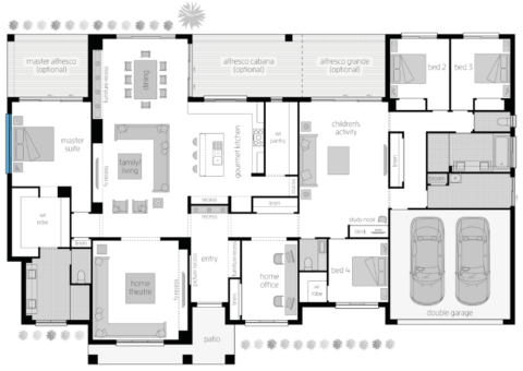 Floor Plan Friday Acreage Style With 4 Bedrooms Activity And Study House Plans Australia Floor Plans Country House Design