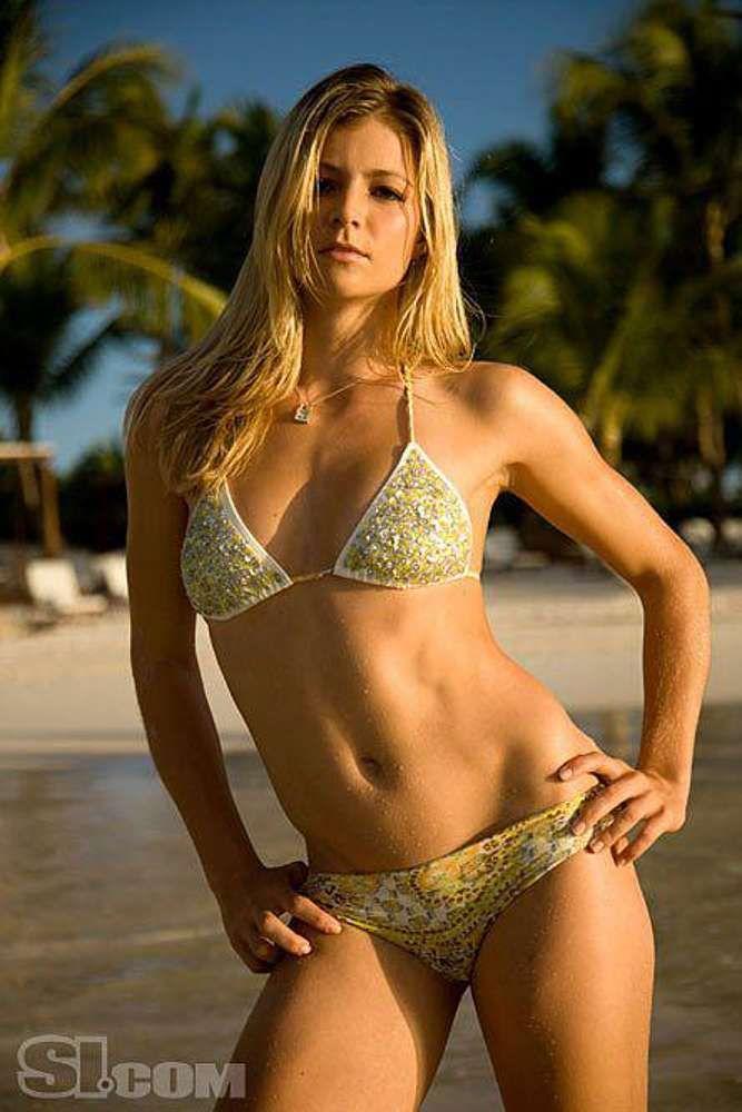 Female tennis players in bikinis