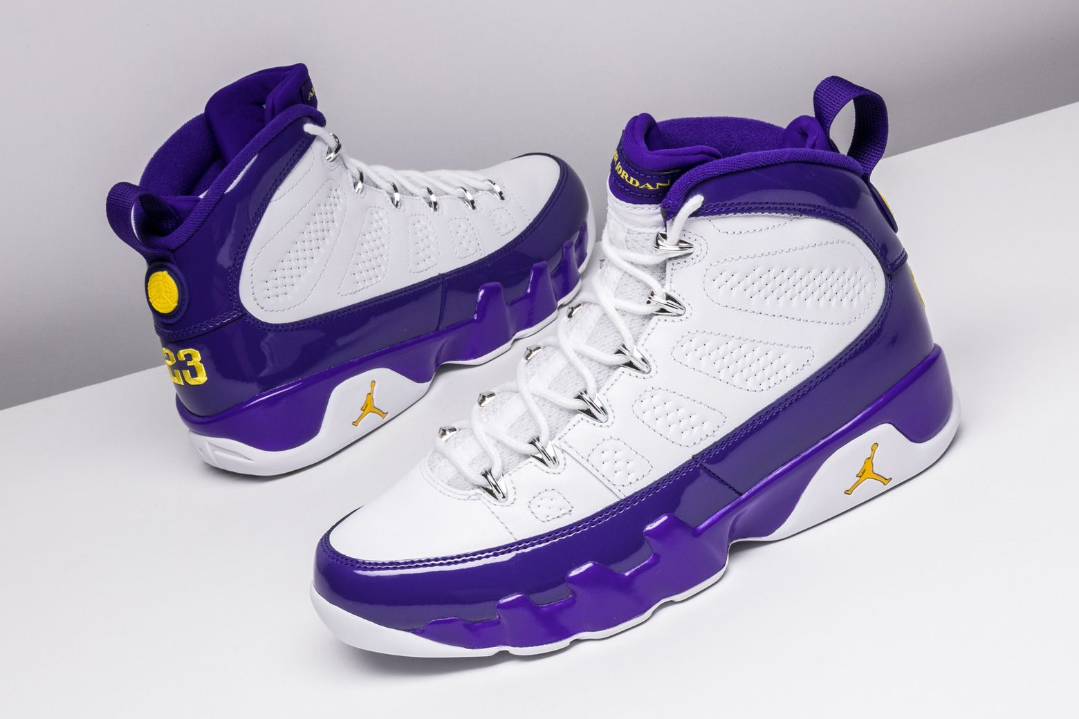 cc8832b7380 The master honors the student with the Los Angeles Lakers-centric Air  Jordan 9