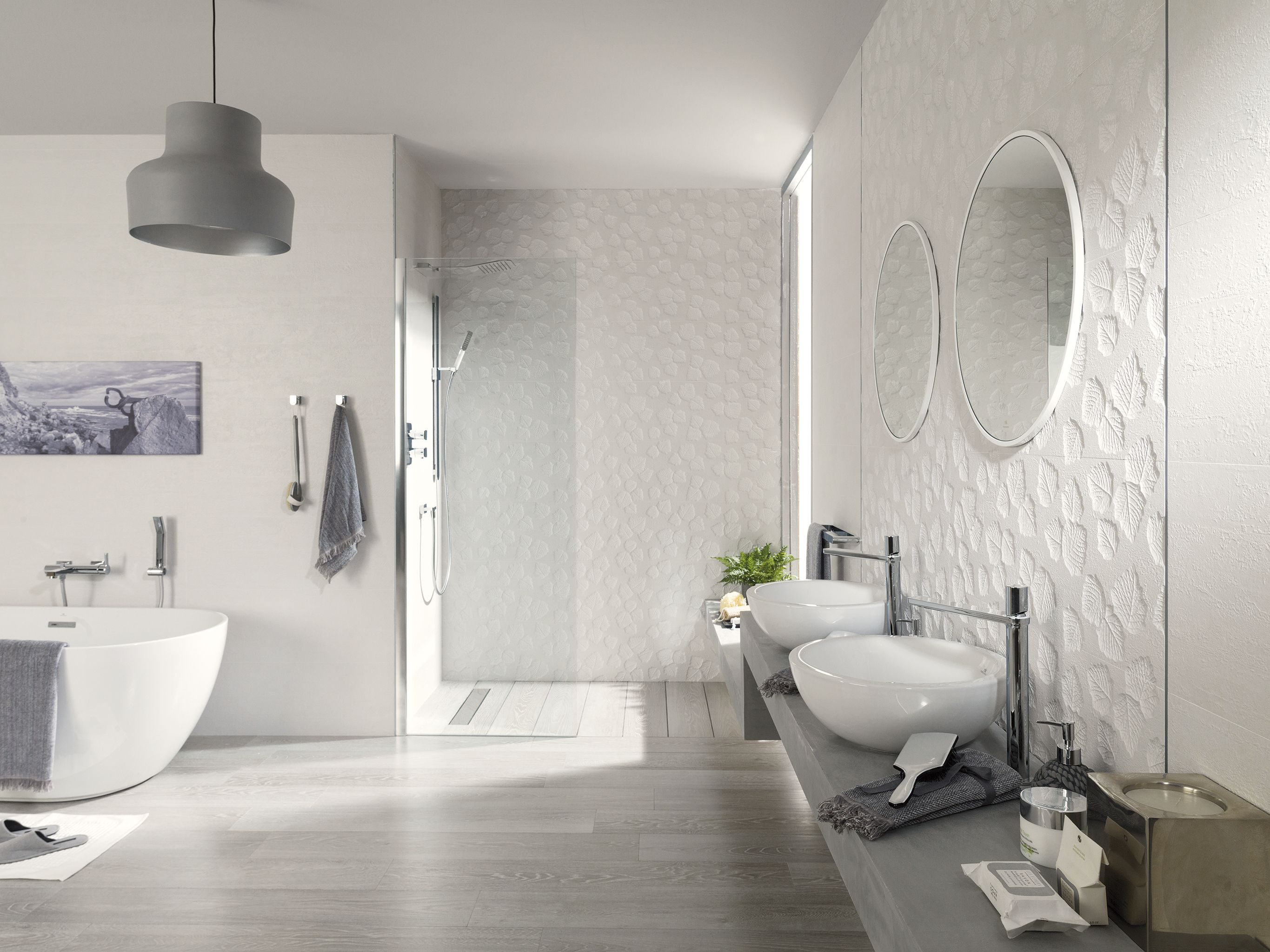 Porcelanosa. Manila Series. Wall tile in white with decorative ...