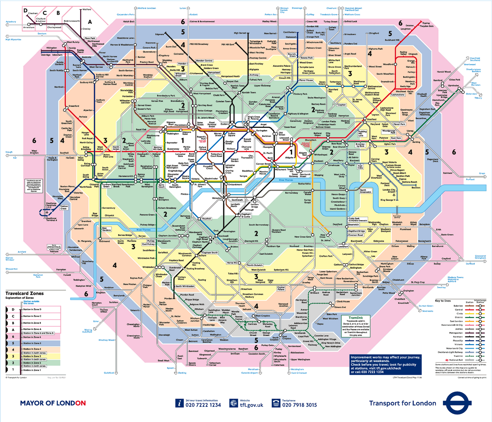 Tube Zones Map London Tube map | Places I've livedLondon in 2019 | London map