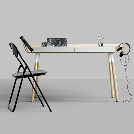 2 Drawer Writing Desk By Etc Etc For Emko Monoqi Bestofdesign