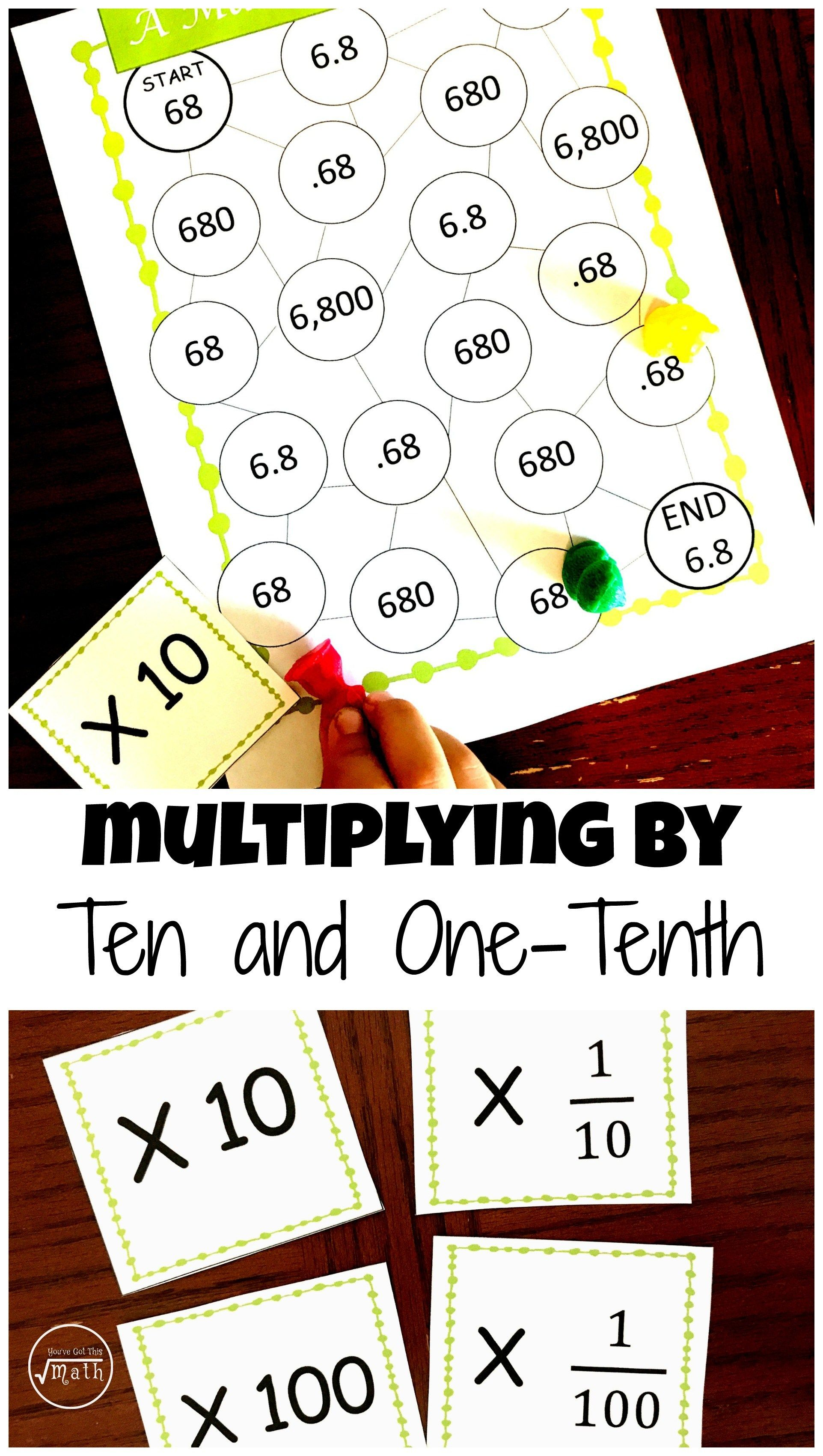 Here S A Free Game To Practice Multiplying By 10 And 10