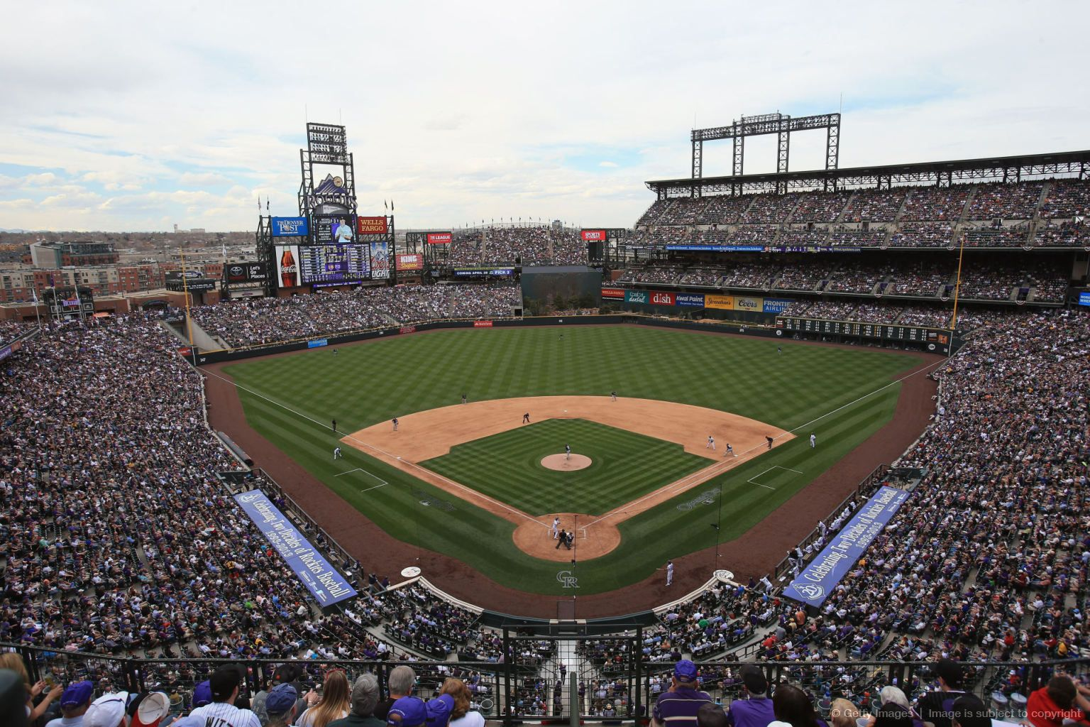 San Diego Padres V Colorado Rockies Home Opener Packed House 4 5 13 Colorado Rockies Rockies Baseball Baseball Park