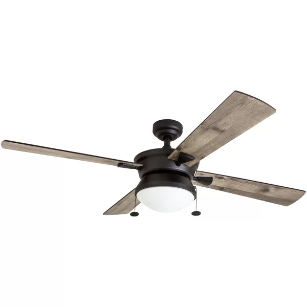 52 Londono 4 Blade Standard Ceiling Fan With Pull Chain And Light Kit Included Ceiling Fan Light Kit Ceiling Fan Fan Light Kits