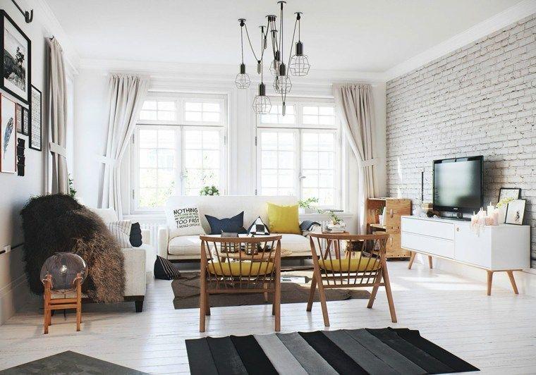 3 Appartements Blancs Dans Différents Styles