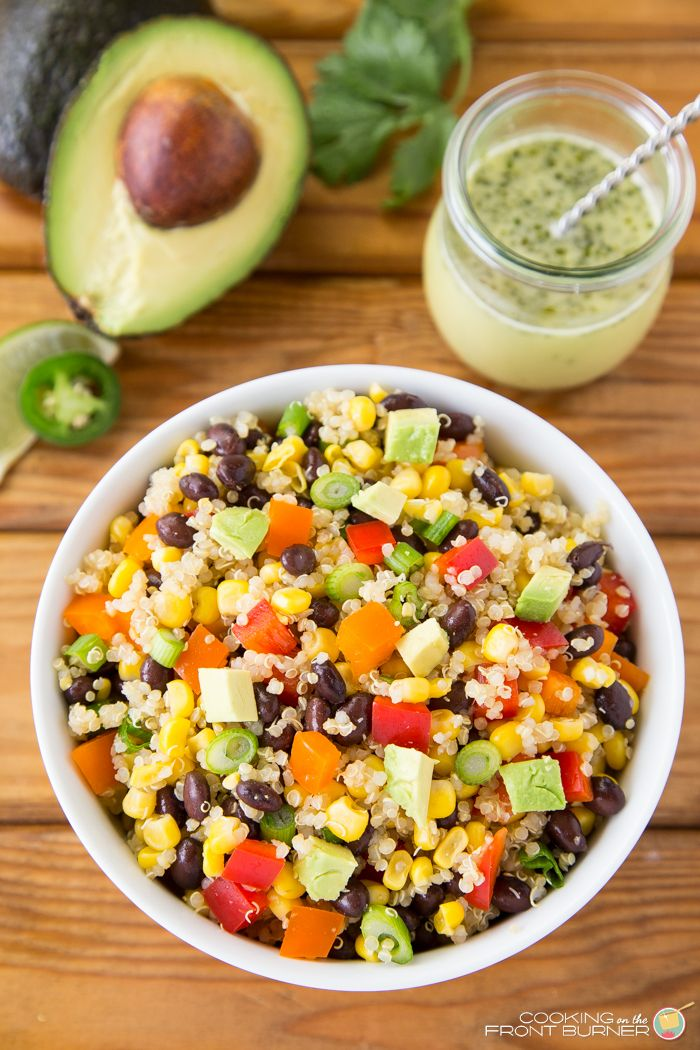 this mexican quinoa salad is full of fresh ingredients and has jalapeno vinaigrette perfect for. Black Bedroom Furniture Sets. Home Design Ideas