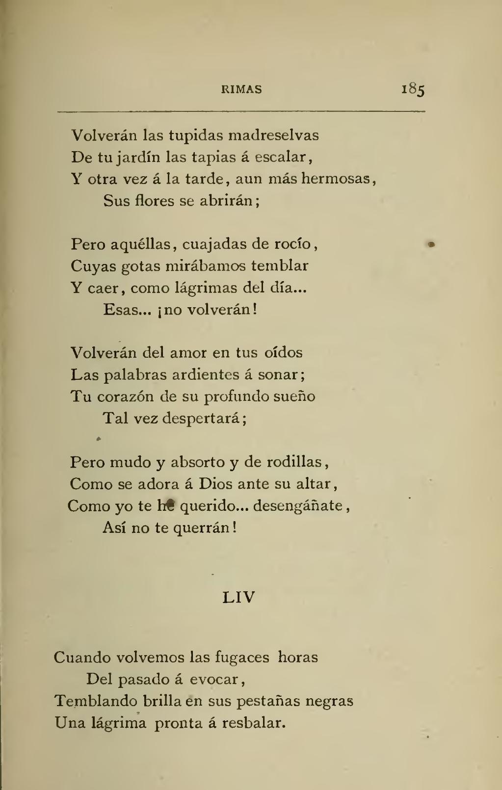 Página Obras De Bécquer Vol 3 Djvu 191 Wikisource Letras De Poemas Becquer Poemas Poemas Para Mama