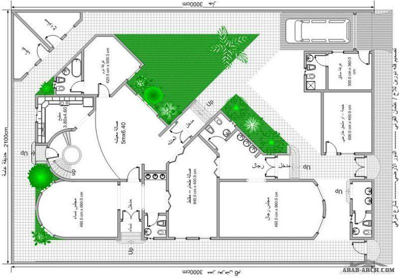 تصميم فيلا زاوية على ارض مستطيلة 30 21 متر House Design Design Weekly Planner Printable