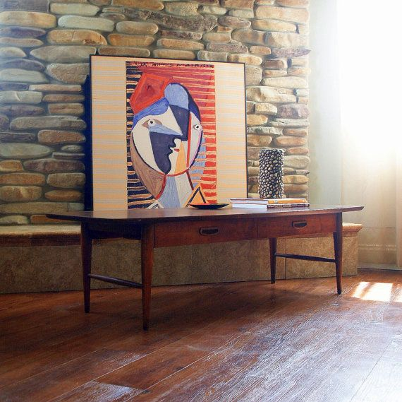 1960s Awesome MID CENTURY LANE Coffee Table Vintage