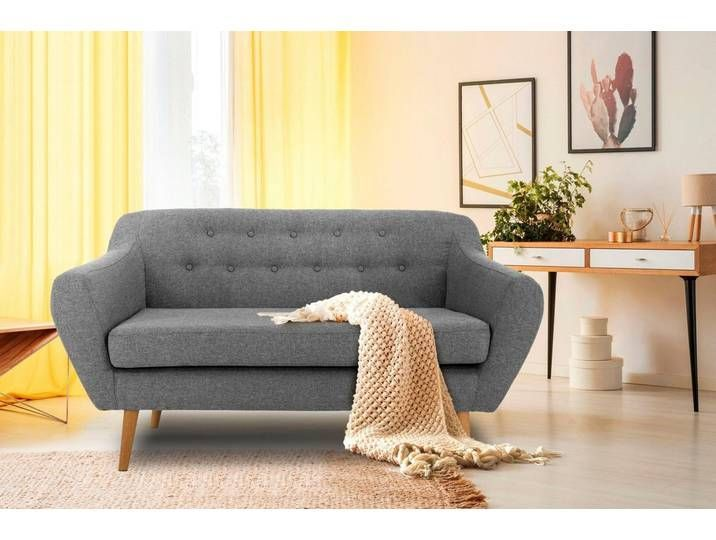 Andas 2 Sitzer Renne Mit Heftung Im Rucken Im Skandinavischem Stil Grau Grau Home Decor Sofa Furniture
