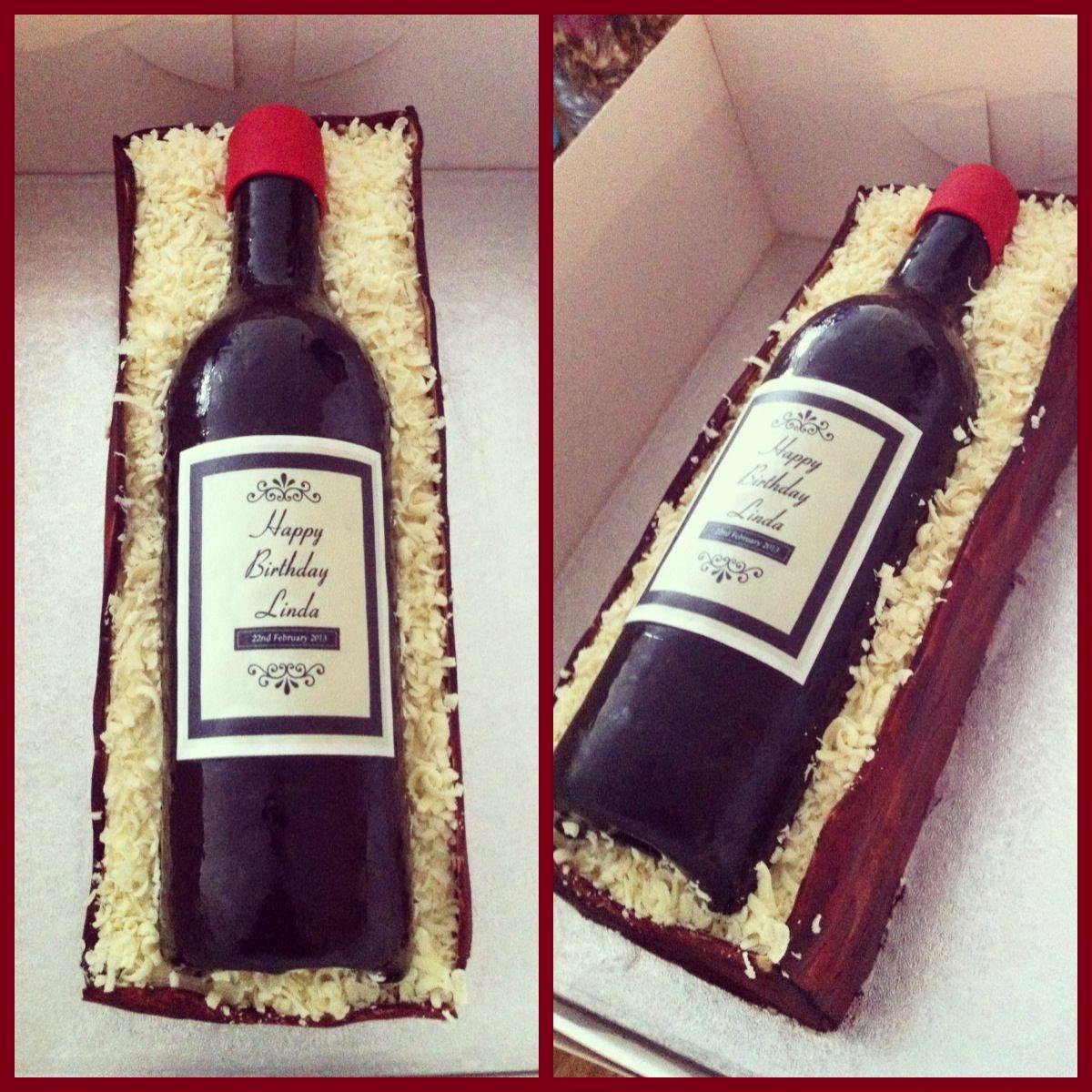 Wine Bottle Cake Cakes